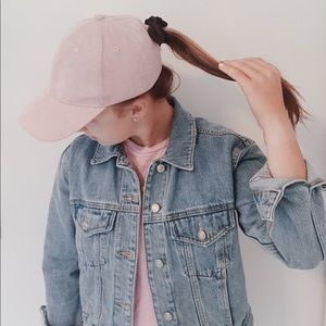 🌸Urban Outfitters Blush Pink Suede Baseball Hat🌸